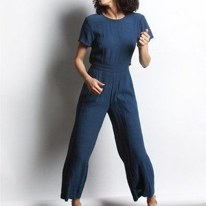HOST PICK - NWT - Short Sleeves Blue Jumpsuit